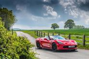 Driving the Chevrolet Corvette through rural England