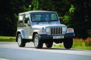 Jeep Wrangler TJ cornering - front