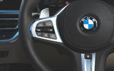 BMW 3 Series 320d 2019 Road Test review - steering wheel controls