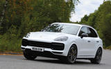 Porsche Cayenne Turbo 2018 road test review on the road front