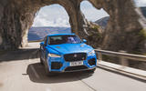 Jaguar F-Pace SVR 2019 first drive review - on the road nose
