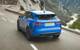 Jaguar F-Pace SVR 2019 first drive review - hero rear