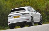 Porsche Cayenne Turbo 2018 road test review hero rear