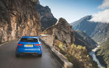 Jaguar F-Pace SVR 2019 first drive review - on the road rear