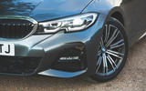 BMW 3 Series 320d 2019 Road Test review - headlights