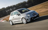 Abarth 595 Essesse 2019 first drive review - cornering front