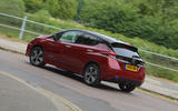 Nissan Leaf 62kWh 2019 UK first drive review - hero rear