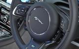 Jaguar XJ steering wheel