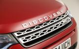The hexagonal mesh and clamshell bonnet are design hallmarks of the Discovery Sport