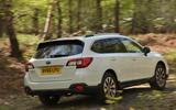 Subaru Outback off-roading rear