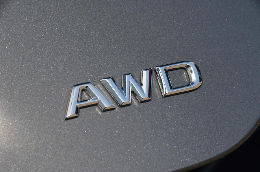 Lexus LS500h 2018 road test review AWD badge