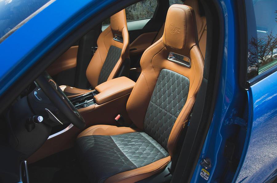 Jaguar F-Pace SVR 2019 first drive review - front seats
