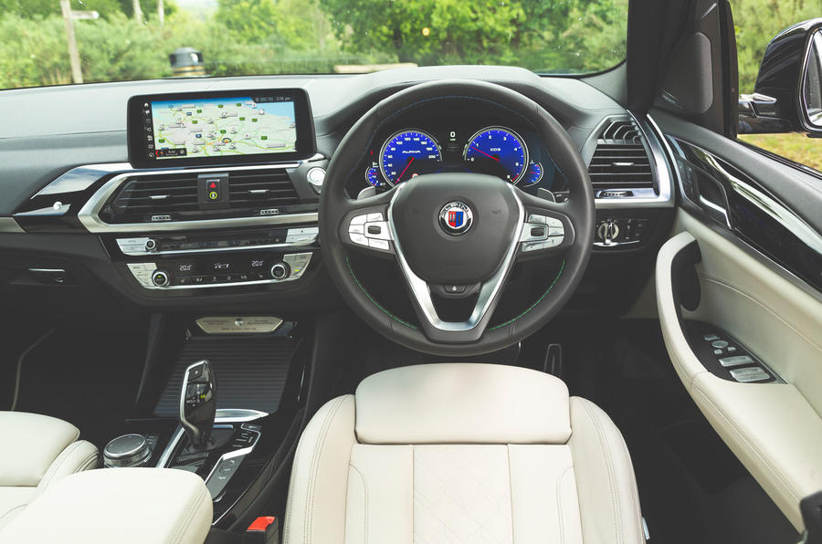Alpina XD3 2019 UK road test review - dashboard
