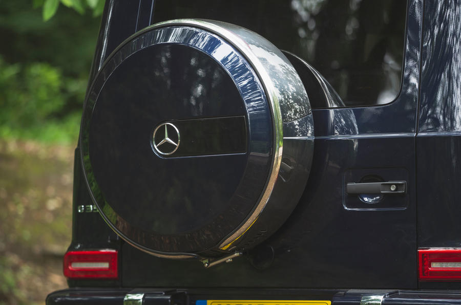 Mercedes-Benz G-Class 2019 road test review - spare wheel