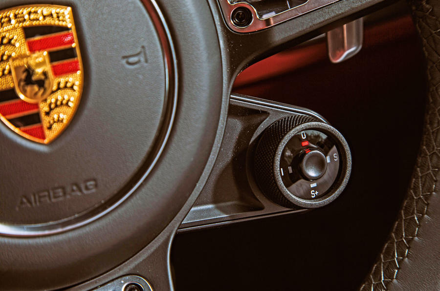 Porsche Cayenne Turbo 2018 road test review steering wheel controls