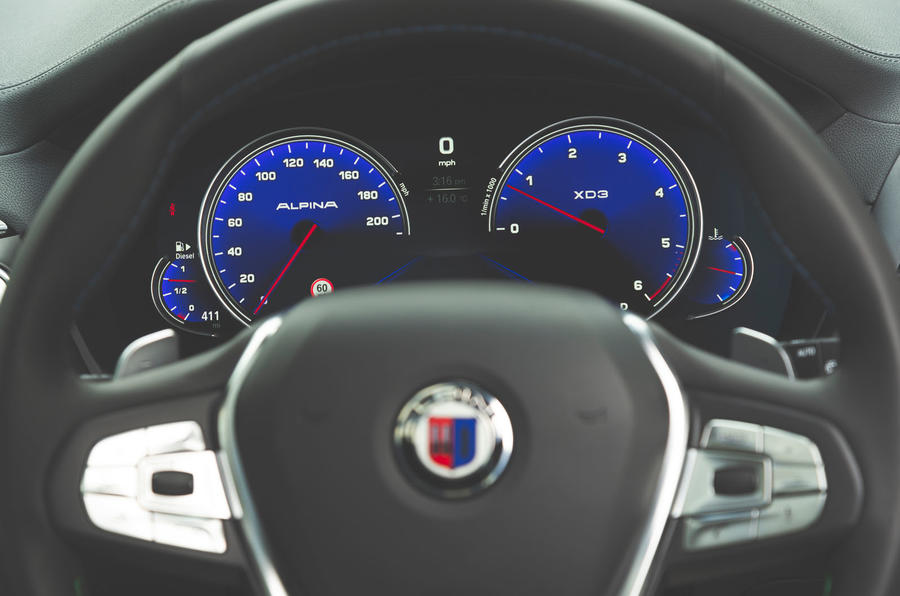 Alpina XD3 2019 UK road test review - instruments