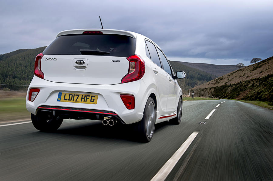 Kia Picanto review driving rear