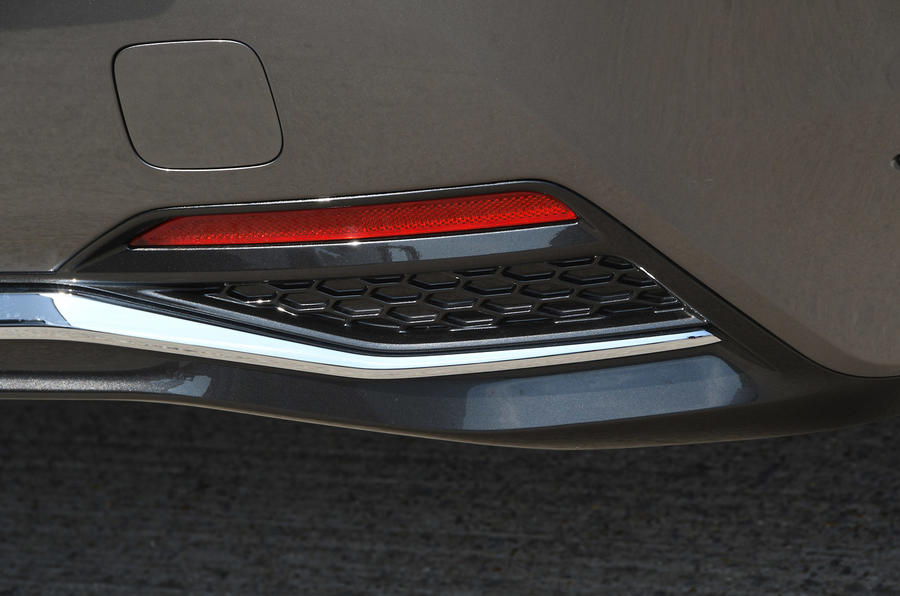 Lexus LS500h 2018 road test review rear bumper