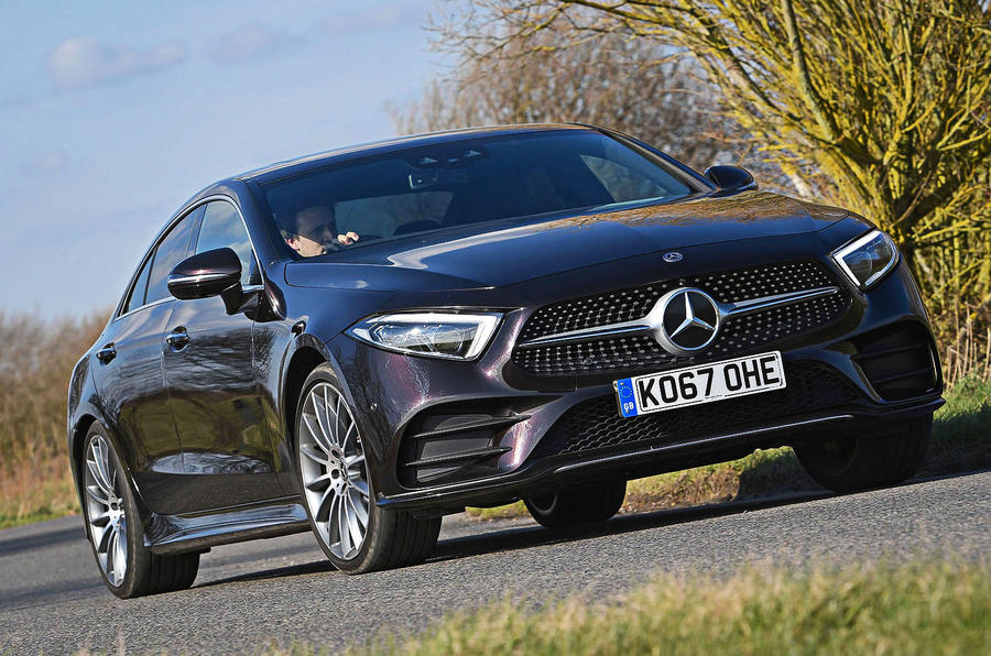 Mercedes-Benz CLS 400d 2018 review on the road front
