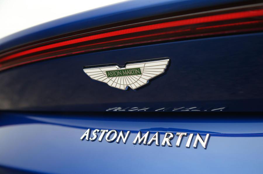 Aston Martin Vantage 2018 review rear badge