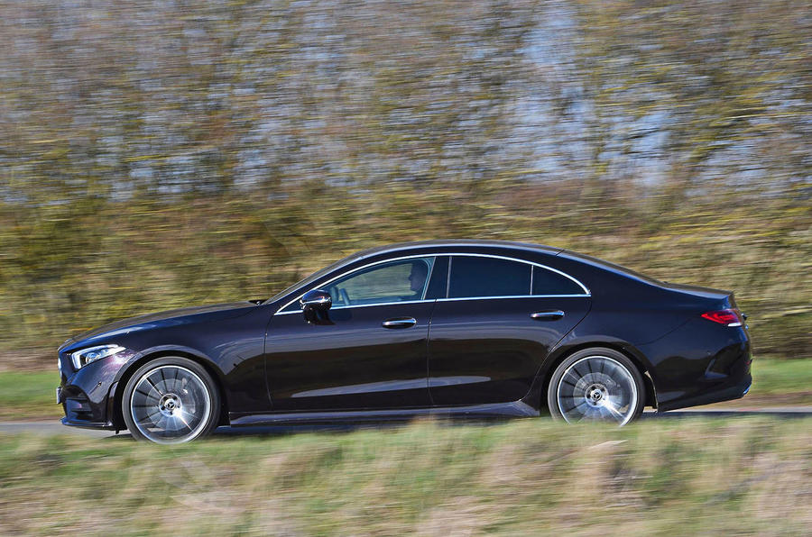 Mercedes-Benz CLS 400d 2018 review on the road side