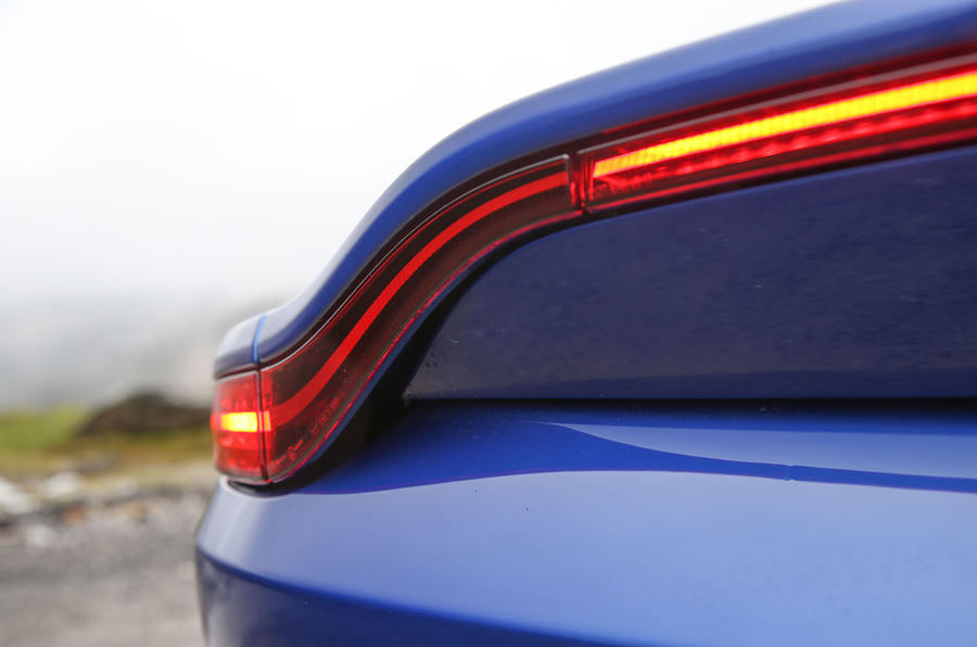 Aston Martin Vantage 2018 review rear lights