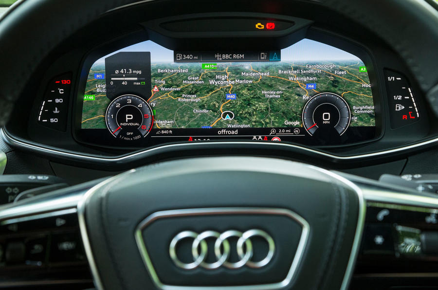 Audi A7 Sportback 2018 road test review satnav