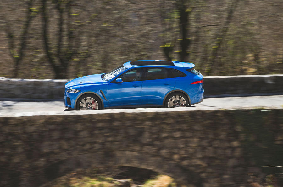 Jaguar F-Pace SVR 2019 first drive review - on the road side