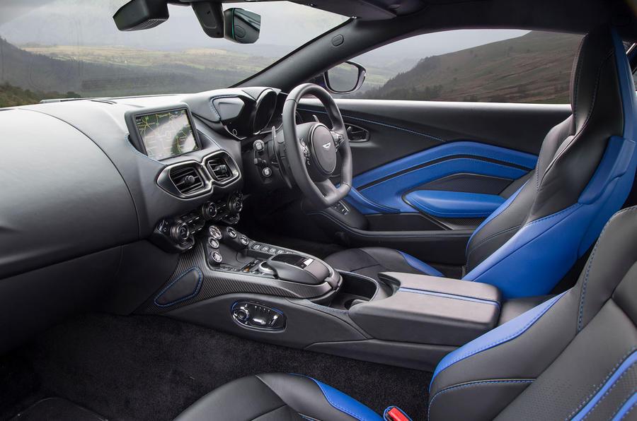 Aston Martin Vantage 2018 review cabin