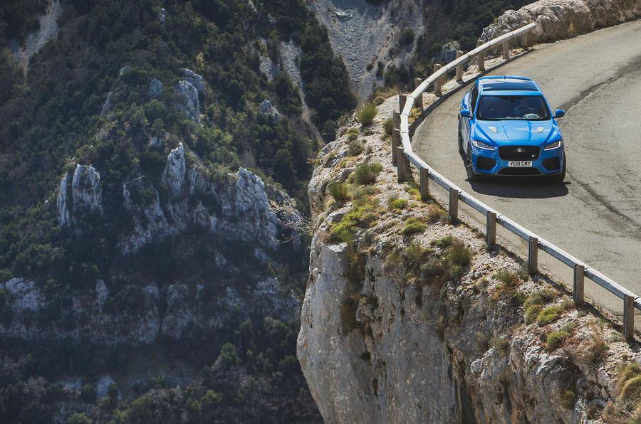Jaguar F-Pace SVR 2019 first drive review - cliffs