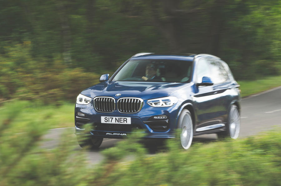 Alpina XD3 2019 UK road test review - on the road front