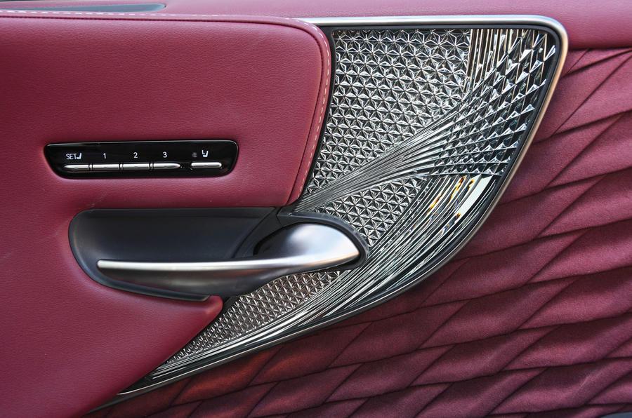Lexus LS500h 2018 road test review door cards