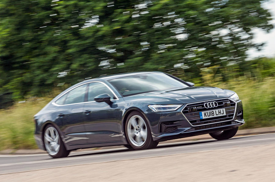 Audi A7 Sportback 2018 road test review on the road front