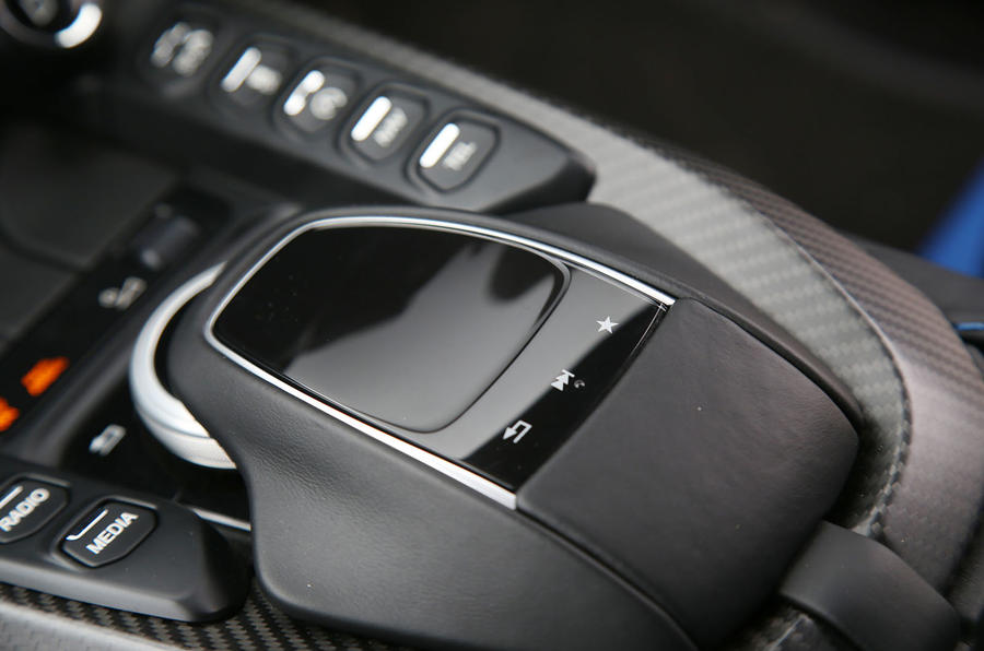 Aston Martin Vantage 2018 review infotainment controls