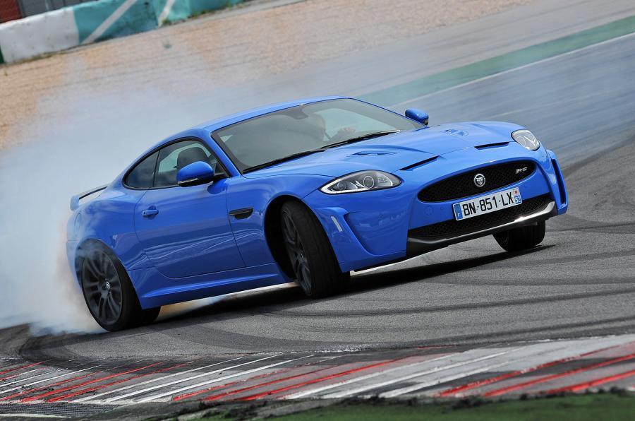 £97,000 Jaguar XKR-S drifting