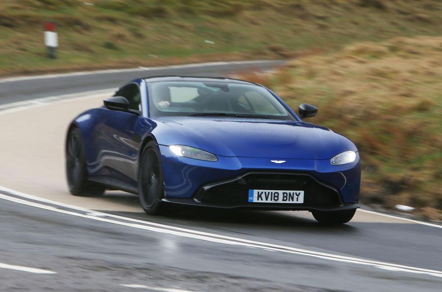 Aston Martin Vantage 2018 review cornering