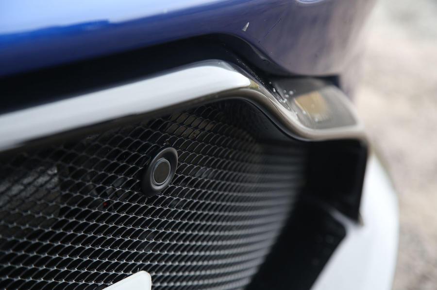 Aston Martin Vantage 2018 review parking sensor