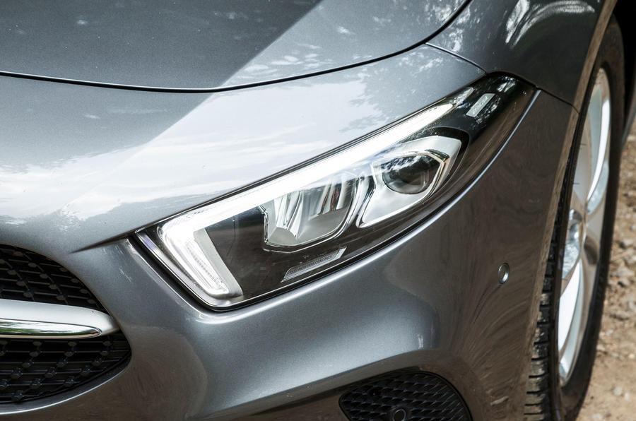 Mercedes-Benz A-Class 2018 road test review headlights
