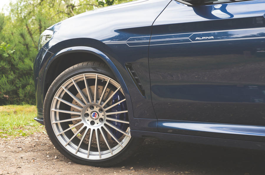Alpina XD3 2019 UK road test review - alloy wheels