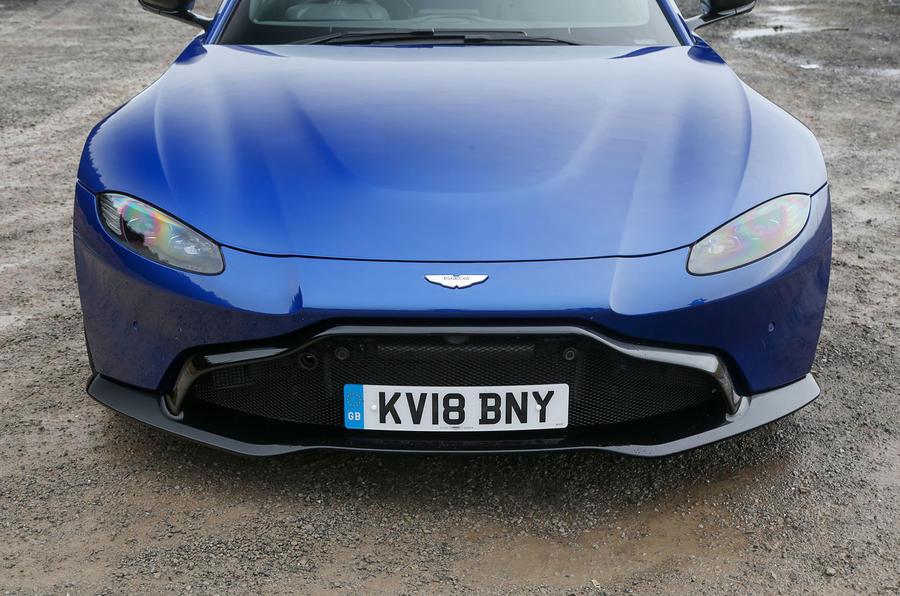 Aston Martin Vantage 2018 review front bumper