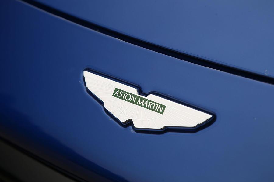 Aston Martin Vantage 2018 review bonnet badge