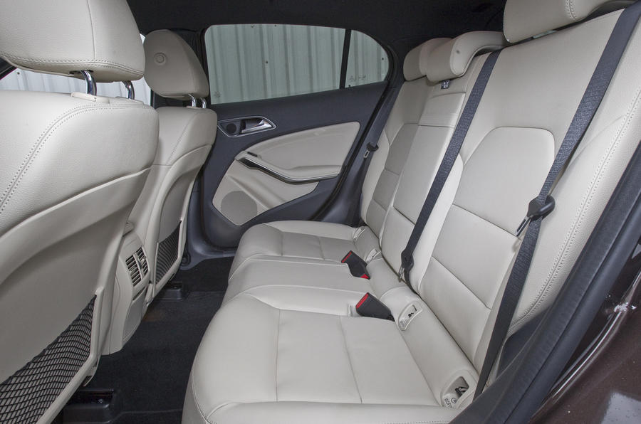 Mercedes-Benz GLA rear seats