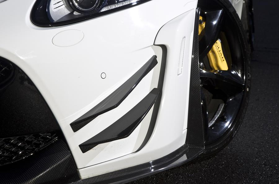 Jaguar XKR-S GT front fins