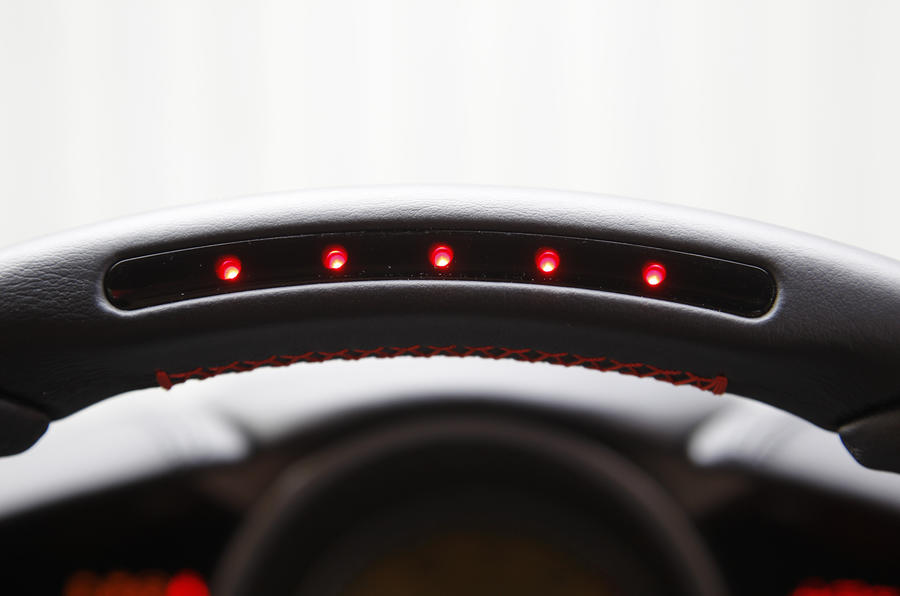 Ferrari F12 steering wheel rev counter