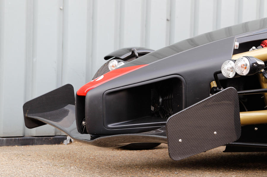 F1-inspired spoiler on the Ariel Atom