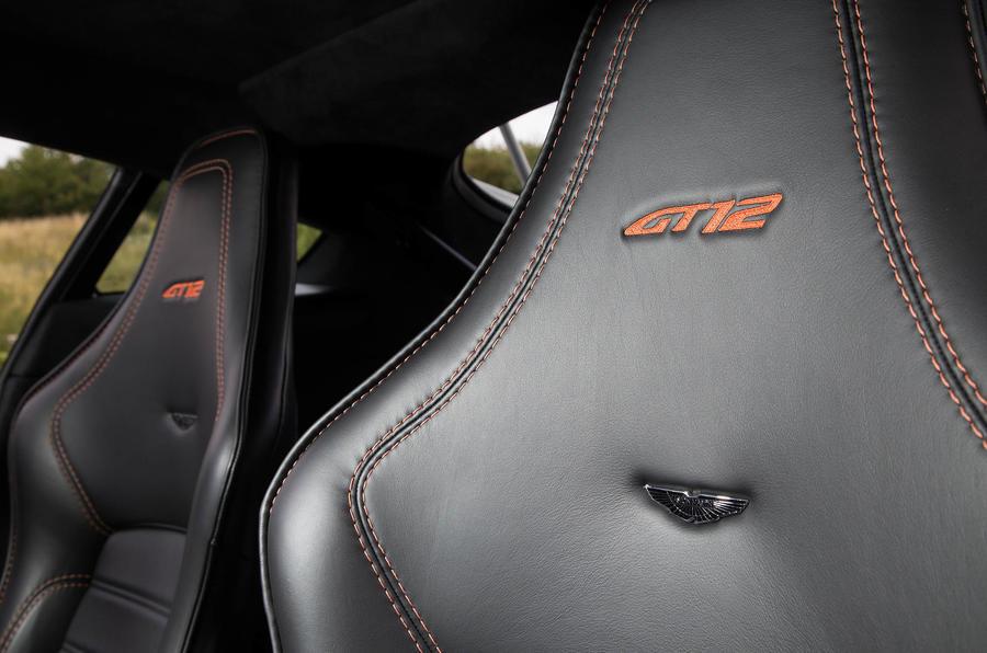 Aston Martin Vantage GT12 seat stitching