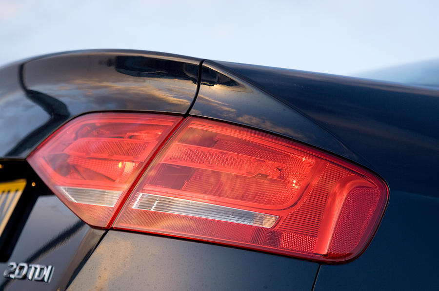 Audi A4's rear lights