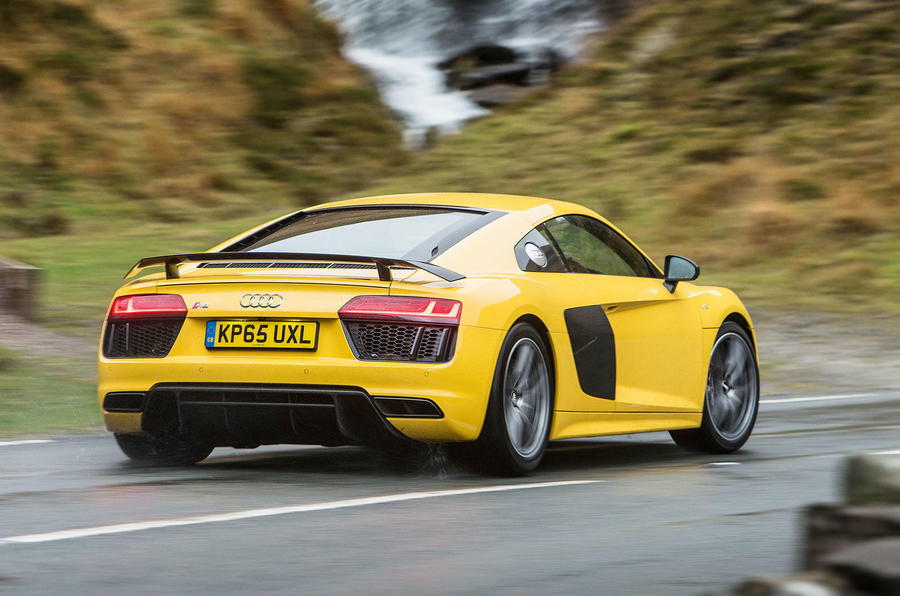 ...yet the Audi R8's sensitive steering doesn't do it any favours