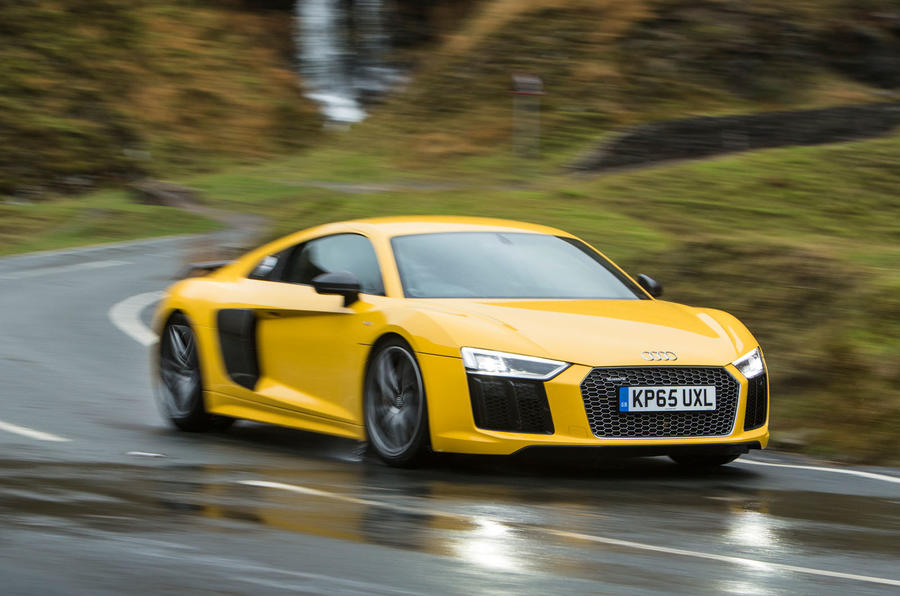 The second generation Audi R8 with the V10 engine