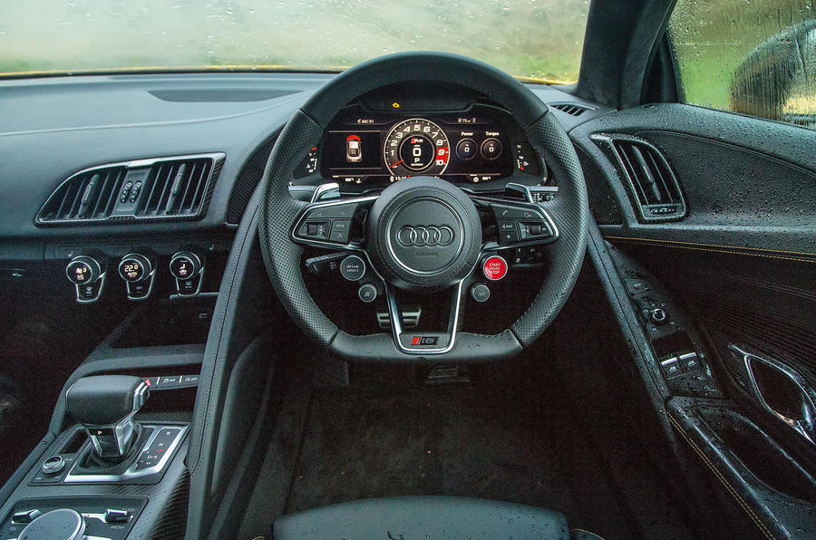 Behind the wheel of the Audi R8 V10 Plus